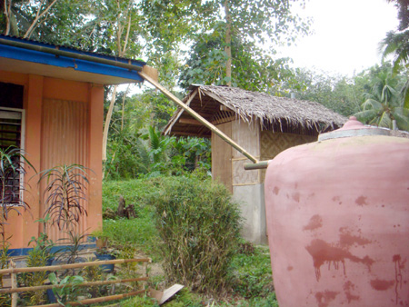 Efficient rainwater catchment with simple tools