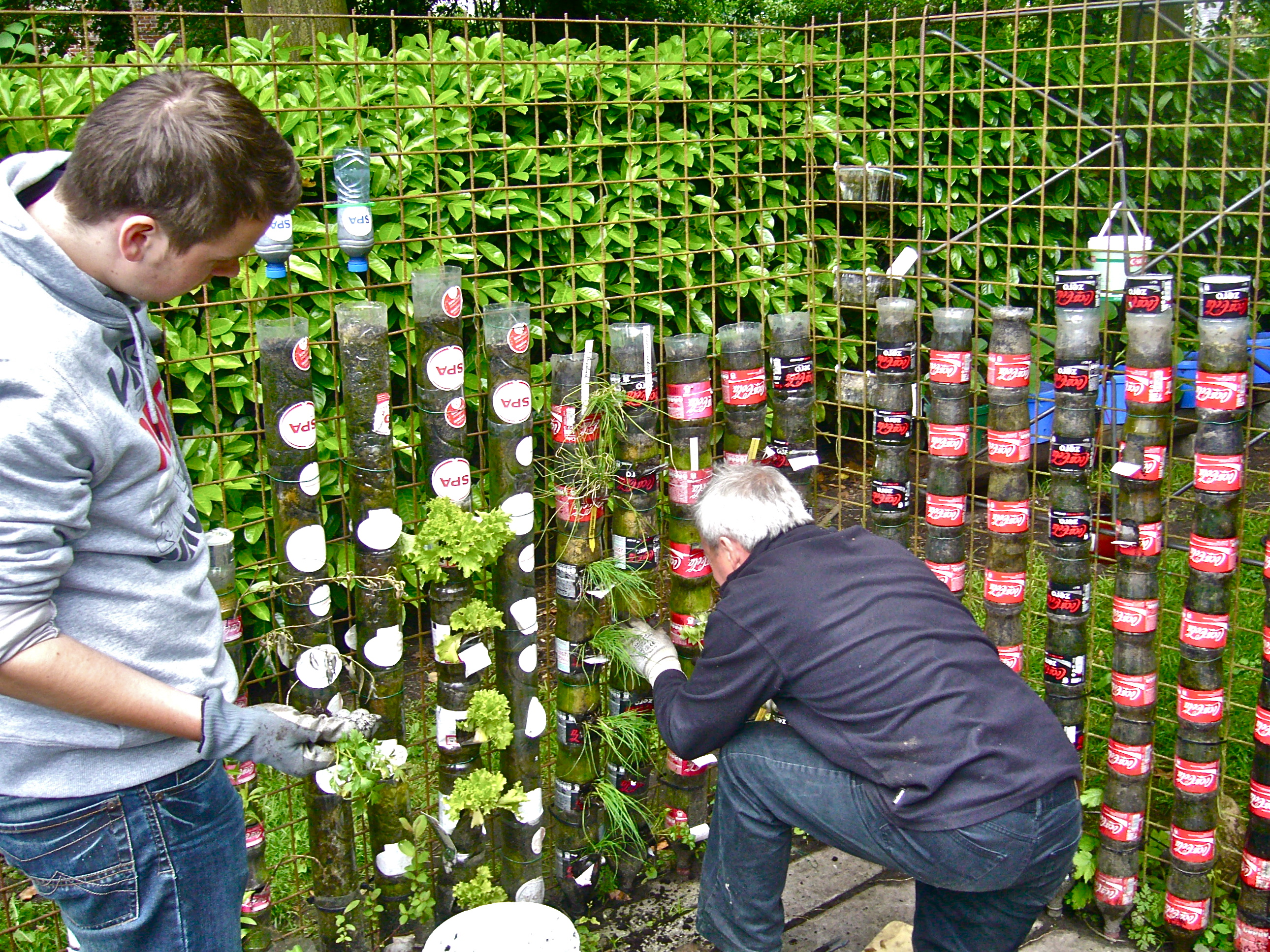 Superb Bottle Towers Can Constitute A Successful Kitchen Garden ...